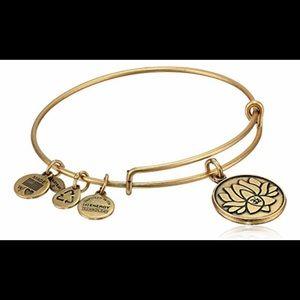 Alex and Ani Lotus Flower Charm Bracelet